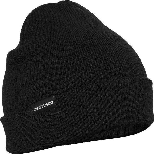 Urban Classics Basic Flap Beanie - Black