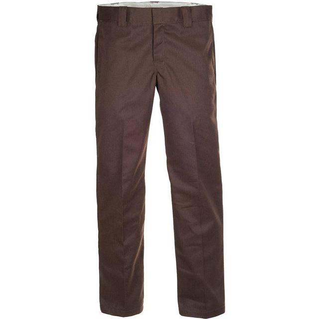 Dickies Slim Fit Straight Leg Work Pants - Dark Brown