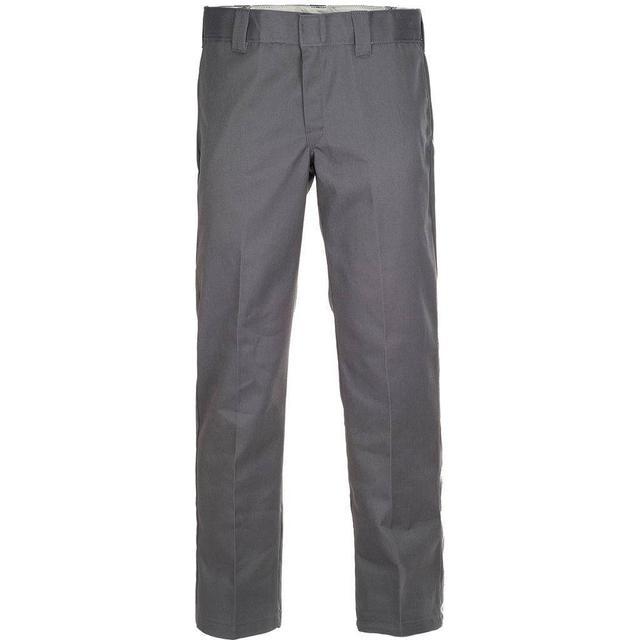 Dickies Slim Fit Straight Leg Work Pants - Charcoal Gray