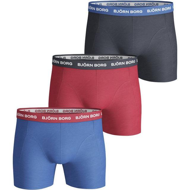 Björn Borg Contrast Elastic Essential Shorts 3-pack Blue