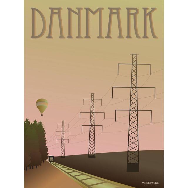 Vissevasse Danmark Masterne Plakat 50x70cm Plakater