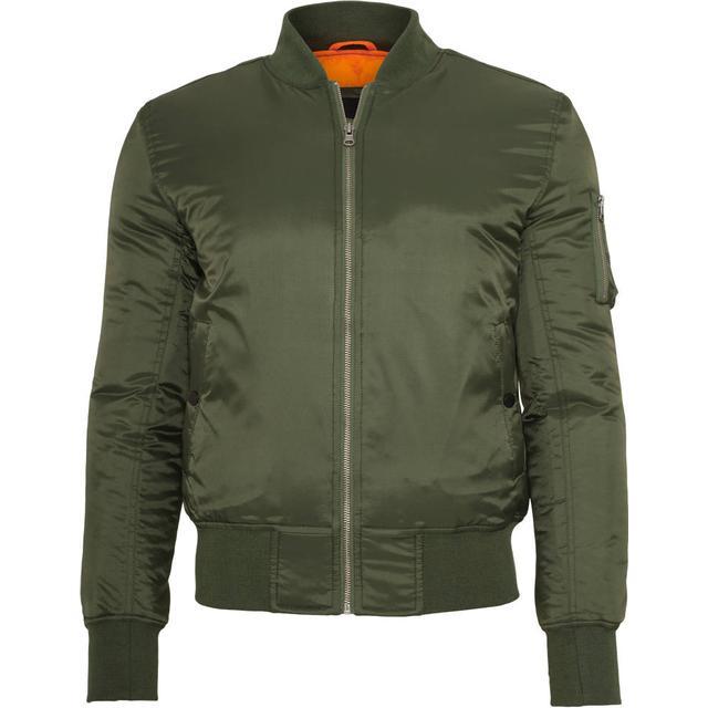 Urban Classics Basic Bomber Jacket - Olive