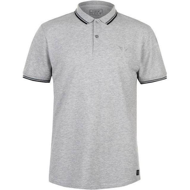 Firetrap Lazer Slim Fit Polo Shirt Grey Marl
