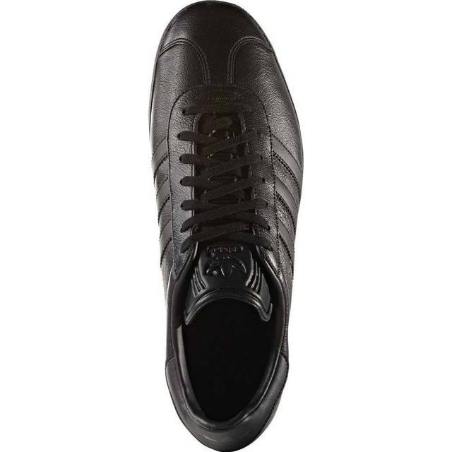 Adidas Gazelle sko Dame Core Sort Guld Metallic :