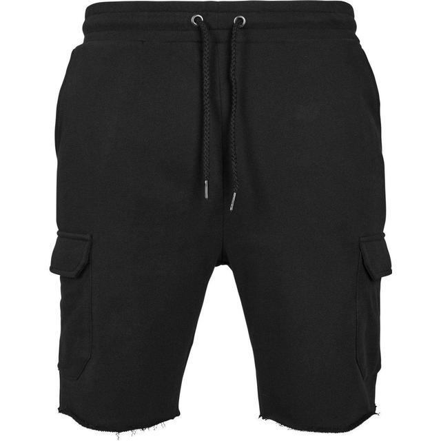 Urban Classics Open Edge Terry Cargo Shorts - Black