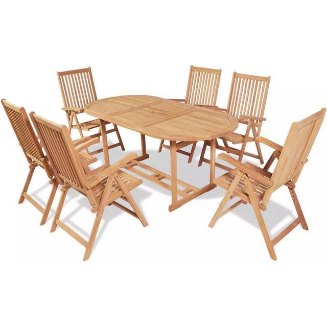 vidaXL 43032 Havemøbelsæt, 1 borde inkl. 6 stole