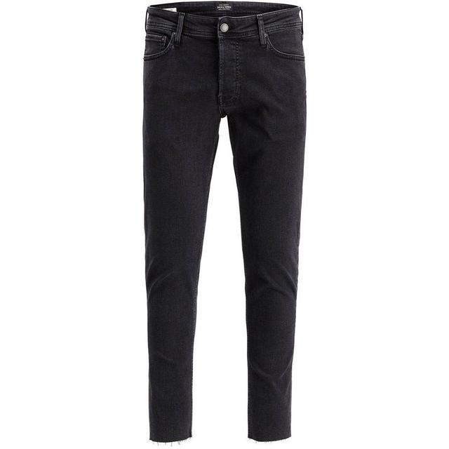 Jack & Jones Glenn Org Crop Jos 189 Slim Fit Jeans - Black/Black Denim