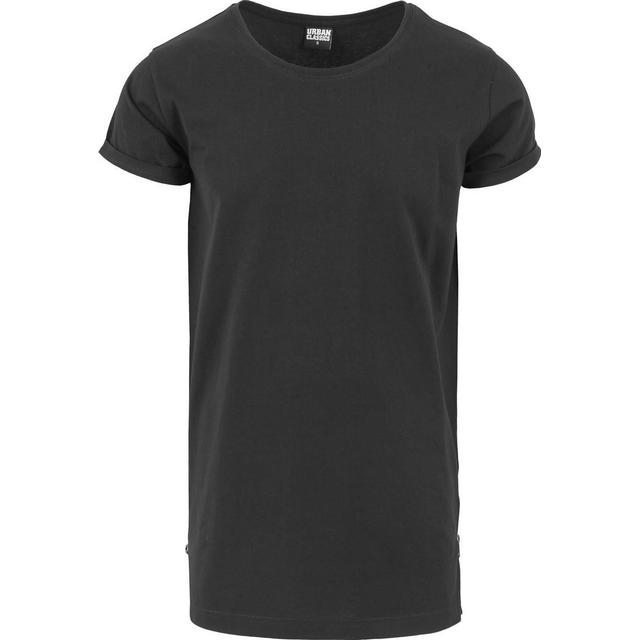 Urban Classics Long Shaped Side Zip Tee Black