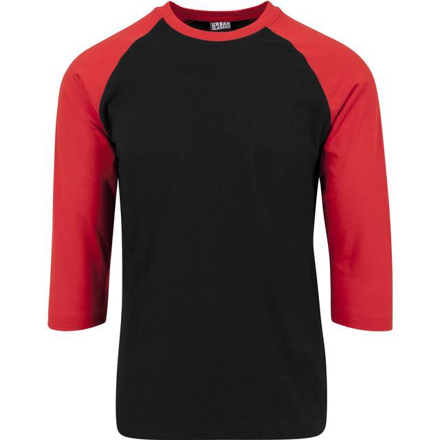 Urban Classics Contrast 3/4 Sleeve Raglan Tee Black/Red
