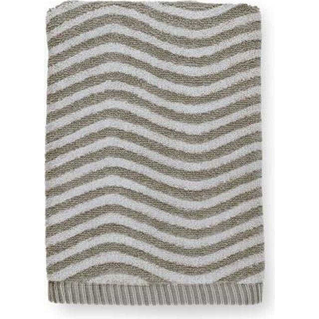 Juna Ocean Håndklæde, 70x140, petrol/sand - Håndklæde