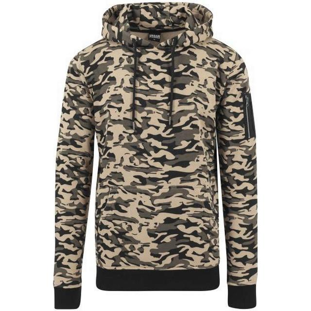 Urban Classics Sweat Camo Bomber Hoody - Wood Camo