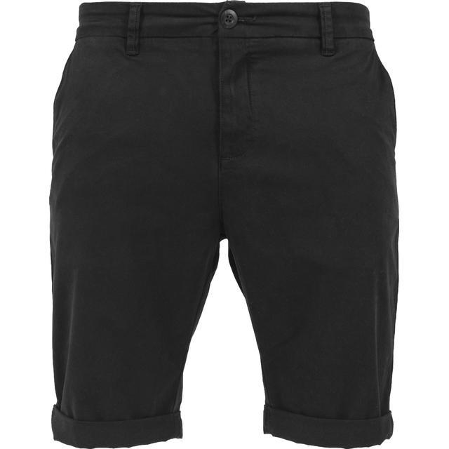 Urban Classics Stretch Turnup Chino Shorts - Black