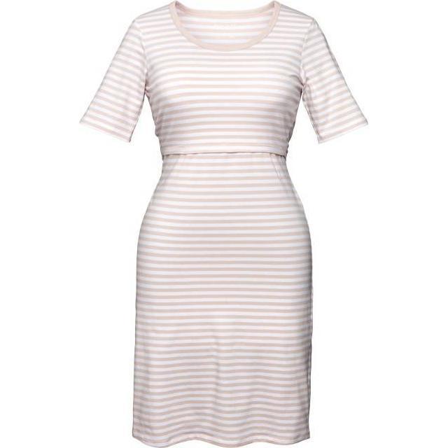 Boob Night Dress White/Soft Pink