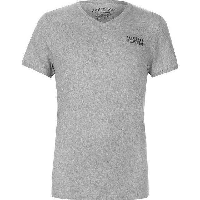 Firetrap Path T-shirt - Grey Marl