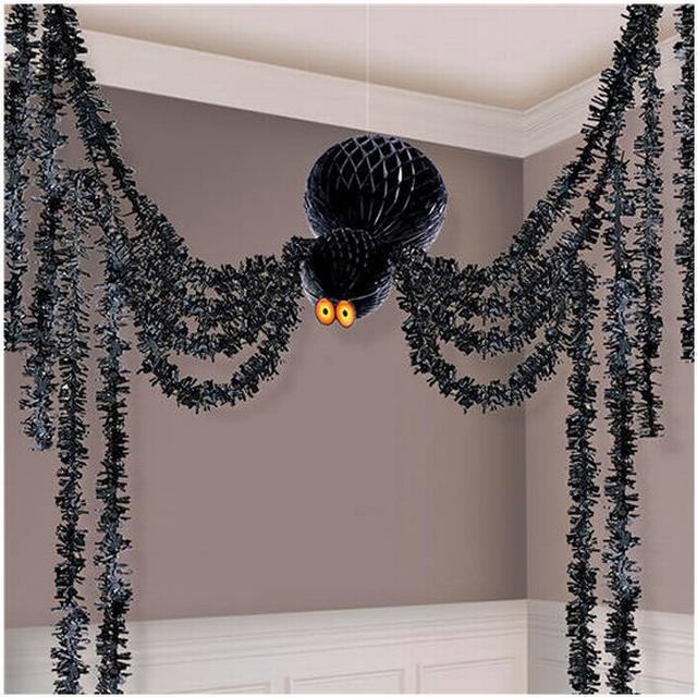 Amscan Honeycomb Spiders Black (670003)