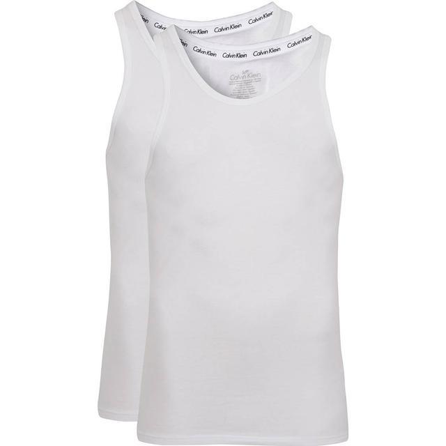 Calvin Klein Modern Cotton Tank Tops 2-pk - Hvid
