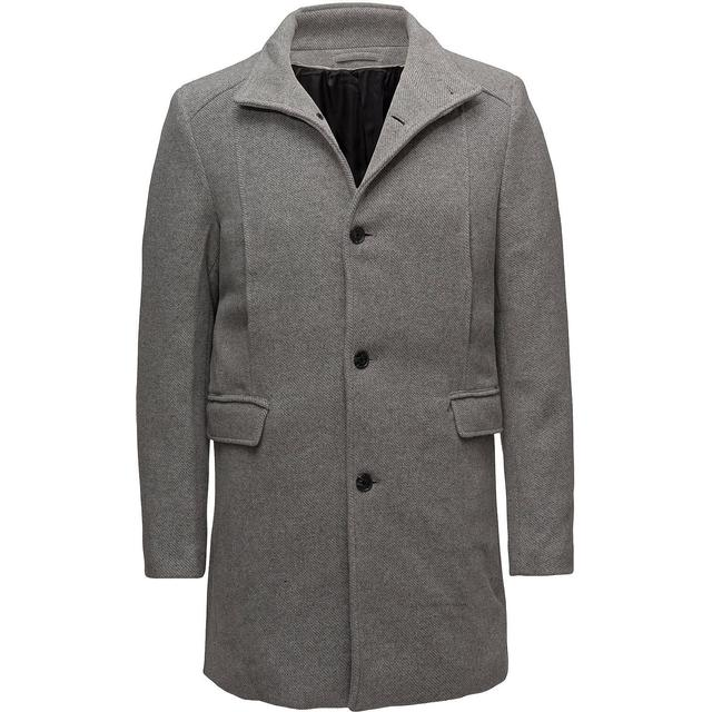 Selected Slhmosto Wool Coat - Medium Gray Melange