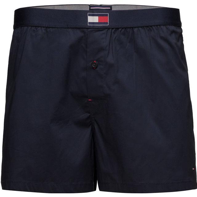Tommy Hilfiger Woven Cotton Blend Boxer - Navy Blazer