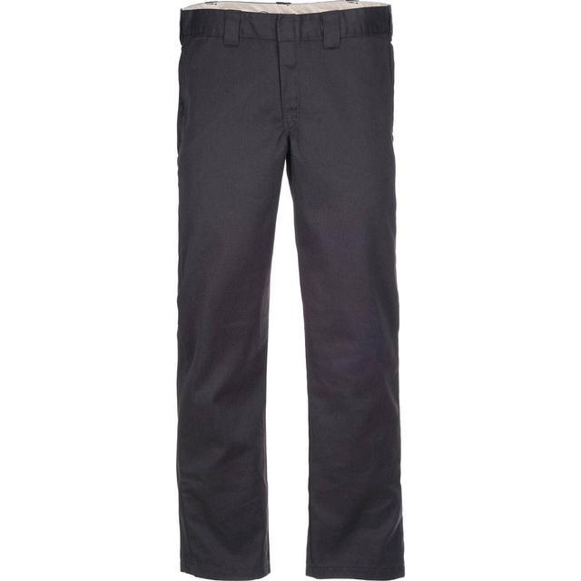 Dickies Slim Fit Straight Leg Work Pants - Rinsed Black