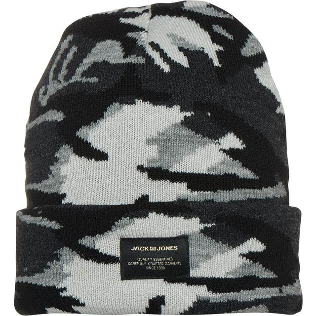 Jack & Jones Camo Beanie Grey/Asphalt