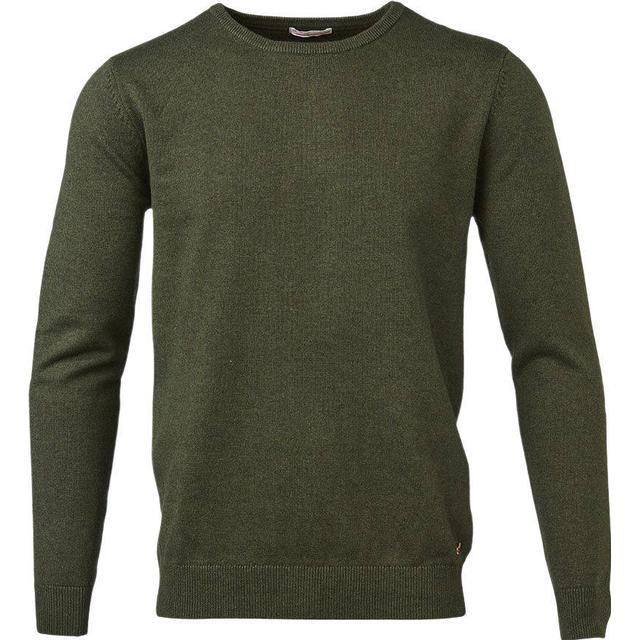 Knowledge Cotton Apparel Basic O-Neck Sweatshirt - Rifle Green