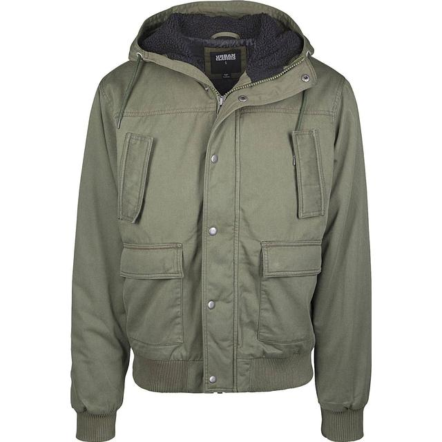 Urban Classics Hooded Cotton Jacket - Darkolive