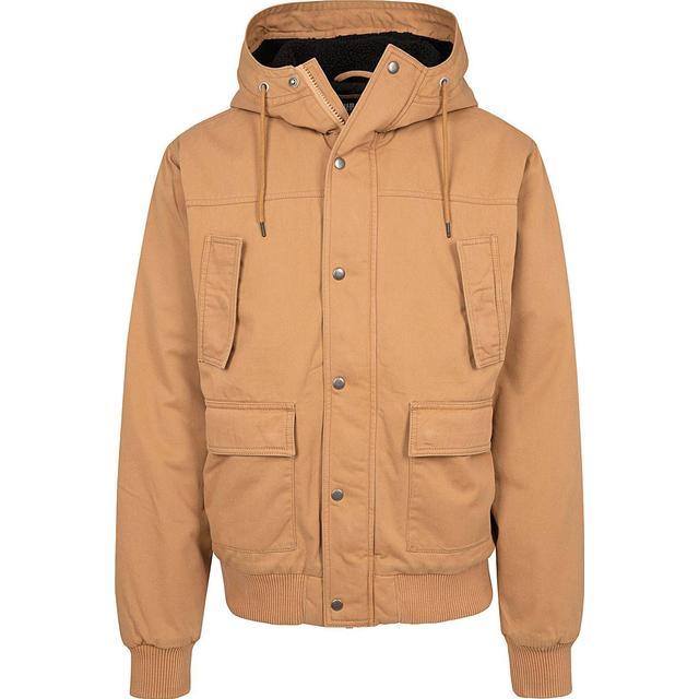 Urban Classics Hooded Cotton Jacket - Camel