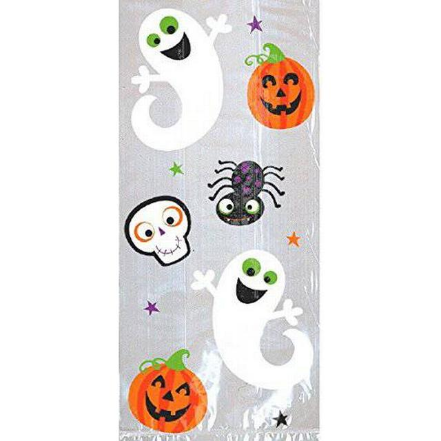 Amscan Pumpkins & Ghosts Large Cello Bags (370259)