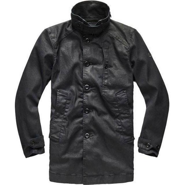 G-Star Garber Denim Trench Coat Dark Aged