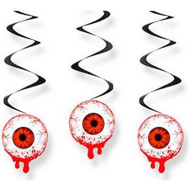 Halloween adorns with bloody eyes