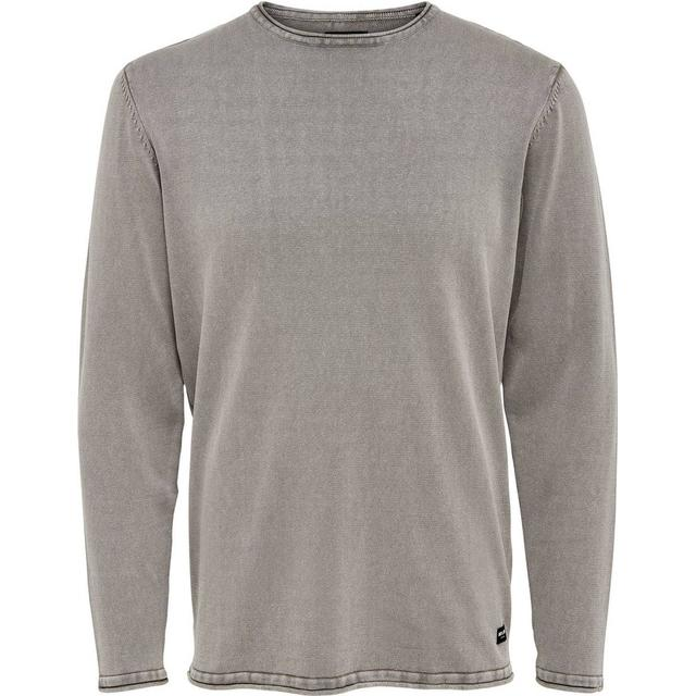 Only & Sons Colored Knitted Pullover - Gray/Griffin