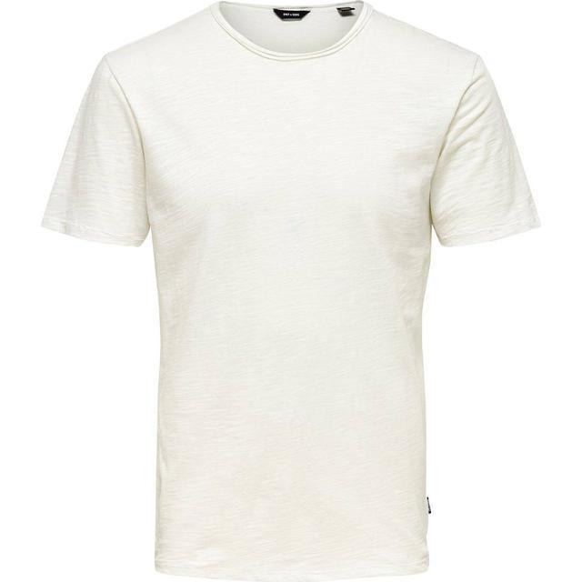 Only & Sons Short Sleeved T-shirt - White/White