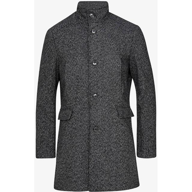 Selected Slhmosto Wool Coat - Black/White