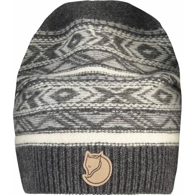 Fjällräven Övik Folk Knit Beanie Unisex - Dark Grey