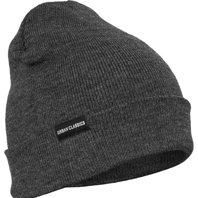 Urban Classics Basic Flap Beanie - Charcoal