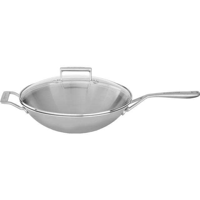 KitchenAid Tri-Ply Wokpande med låg 33cm