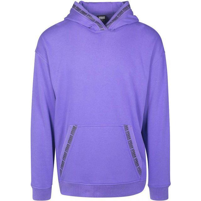 Urban Classics Oversize Logo Hoody - Ultraviolet