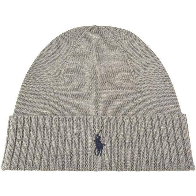 Polo Ralph Lauren Ribbed Beanie - Grey Heather