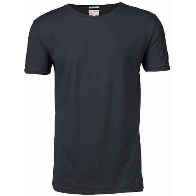 Knowledge Cotton Apparel Basic Regular Fit O-Neck Tee - Total Eclipse