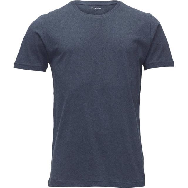Knowledge Cotton Apparel Basic Regular Fit O-Neck Tee Insigna Blue Melange