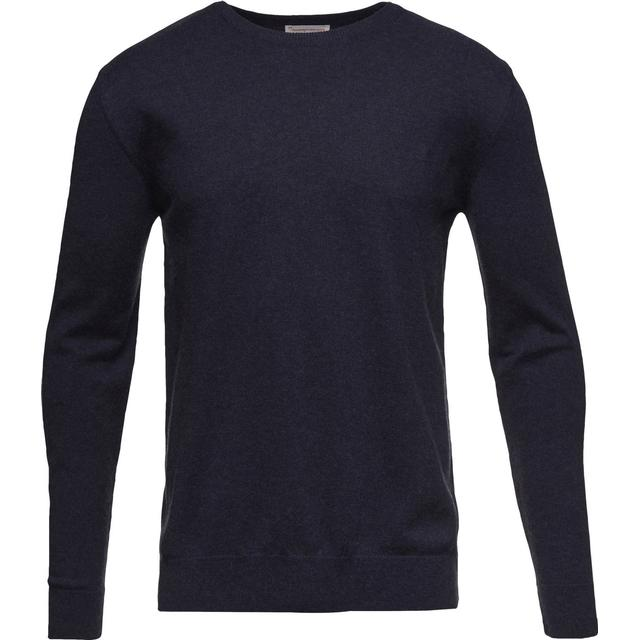 Knowledge Cotton Apparel Basic O-Neck Sweatshirt - Total Eclipse