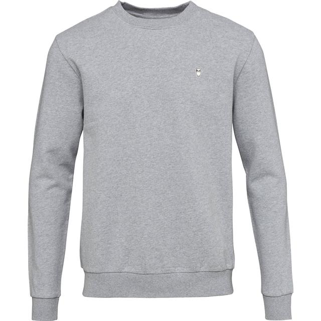 Knowledge Cotton Apparel Basic Sweatshirt - Grey Melange
