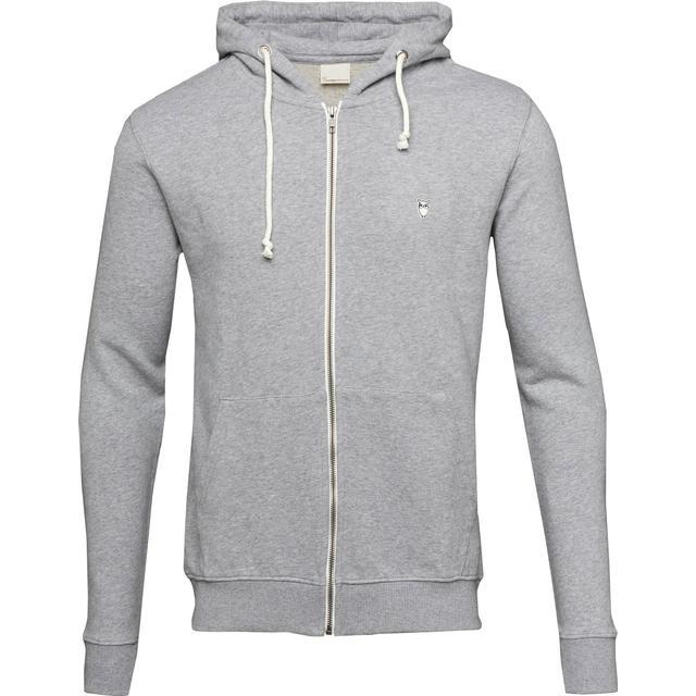 Knowledge Cotton Apparel Basic Sweat Hoodie - Grey Melange