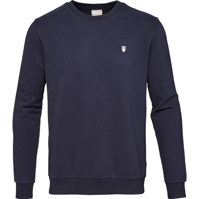 Knowledge Cotton Apparel Basic Sweatshirt - Total Eclipse