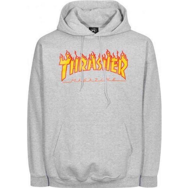 Thrasher Magazine Flame Logo Hoodie - Gray