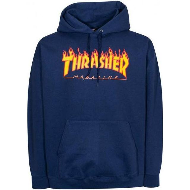 Thrasher Magazine Flame Logo Hoodie - Navy