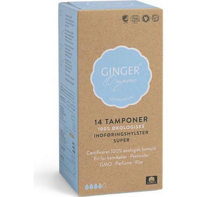 GingerOrganic Tamponer med Indføringshylster Super 14-pack