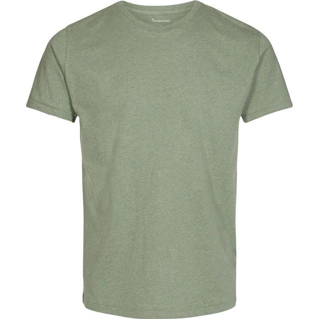 Knowledge Cotton Apparel Basic Regular Fit O-Neck Tee - Gren Melange
