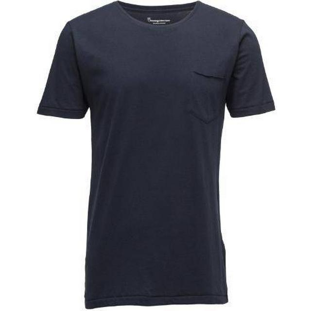 Knowledge Cotton Apparel Basic Tee with Chest Pocket - Total Eclipse