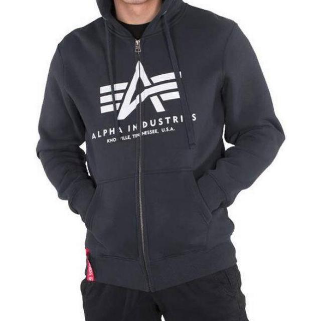 Alpha Industries Basic Zip Hoodie - Navy